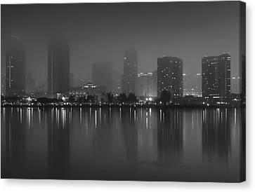 Fog On The Bay Canvas Print