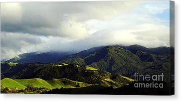 Canvas Print featuring the photograph Fog Over Santa Ynez Valley by Gary Brandes