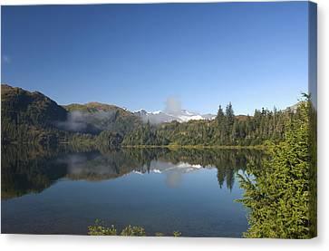 Fog Over Shrode Lake II Canvas Print by Gloria & Richard Maschmeyer