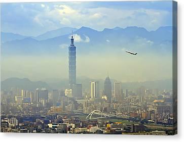 Fog Taipei 101 Canvas Print