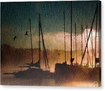 Foggy Evening Canvas Print