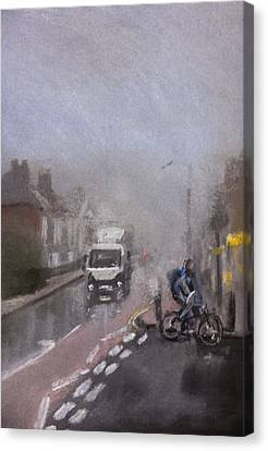 Foggy Herne Bay 2 Canvas Print by Paul Mitchell
