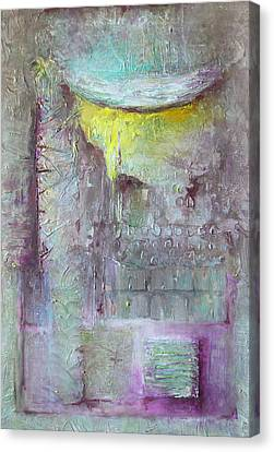 Canvas Print featuring the painting Foggy Land by Lolita Bronzini