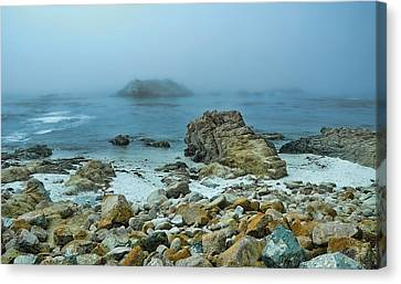 Canvas Print featuring the photograph Foggy Morning On The Coast by Renee Hardison