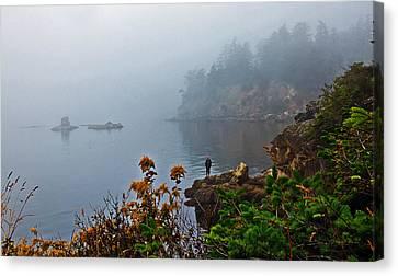 Foggy Morning Canvas Print by Robert Bales