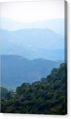 Foggy Mountain Layers Canvas Print