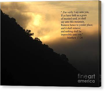 Canvas Print - Foggy Mountain Sunrise 2 by Shane Brumfield