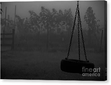 Canvas Print featuring the photograph Foggy Playground by Cheryl Baxter