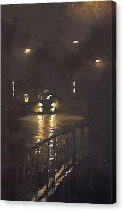 Foggy Street 4 Canvas Print by Paul Mitchell