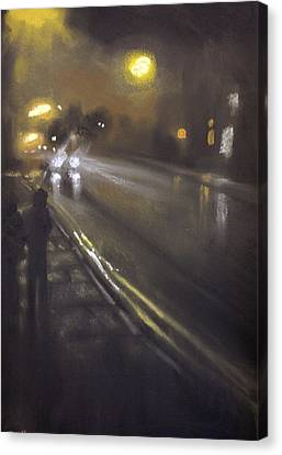 Foggy Street 6 Canvas Print by Paul Mitchell