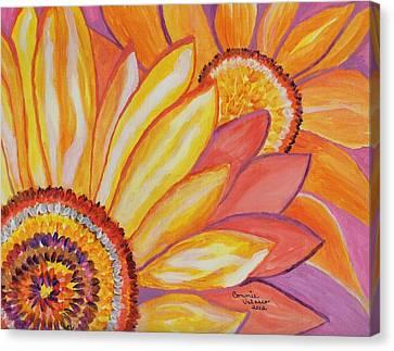 Follow The Sun Canvas Print by Connie Valasco