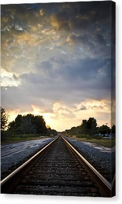 Follow The Tracks Canvas Print