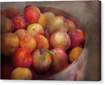 Food - Peaches - Farm Fresh Peaches  Canvas Print by Mike Savad