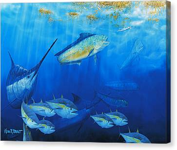 Food Chain Canvas Print by Kevin Brant