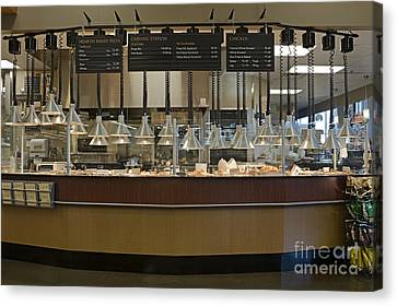 Food Kiosk In A Grocery Store Canvas Print