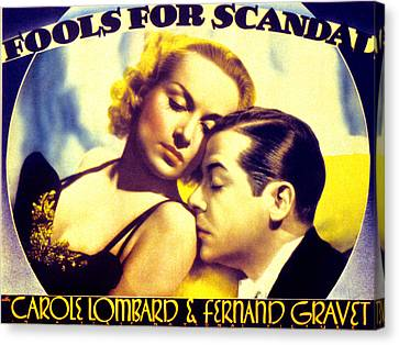 Fools For Scandal, Carole Lombard Canvas Print by Everett