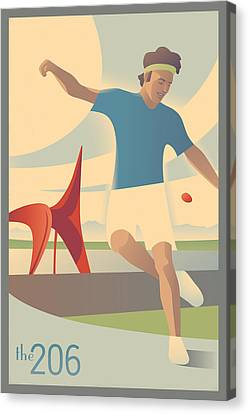 Footbag In Seattle Canvas Print by Mitch Frey