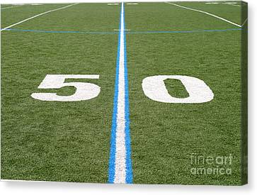 Canvas Print featuring the photograph Football Field Fifty by Henrik Lehnerer