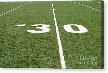 Canvas Print featuring the photograph Football Field Thirty by Henrik Lehnerer