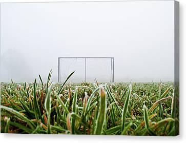 Football Goal Canvas Print by Ulrich Mueller