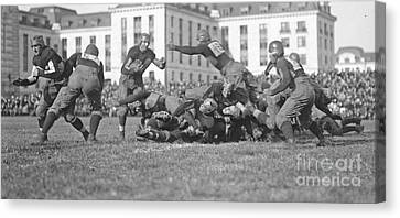 Football Play 1920 Canvas Print by Padre Art