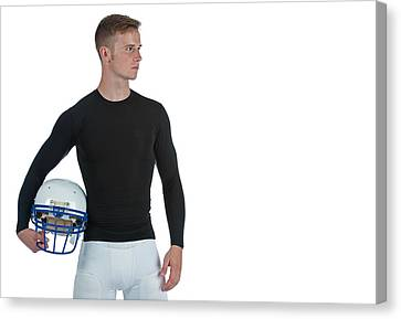 Canvas Print featuring the photograph Football Player by Jim Boardman