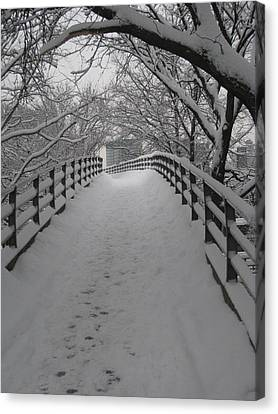 Footbridge Canvas Print
