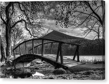 Footbridge Peaks Of Otter - Virginia Canvas Print by Steve Hurt