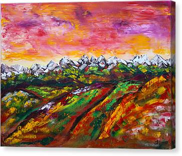 Foothills Fall Canvas Print by James Bryron Love