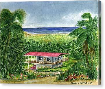 Foothills Of El Yunque Puerto Rico Canvas Print by Frank Hunter