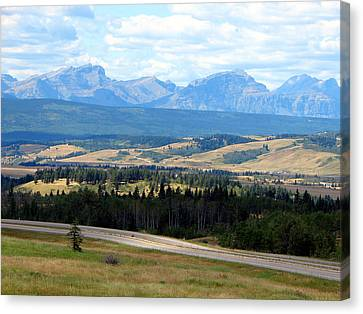 Foothills West Of Calgary Canvas Print