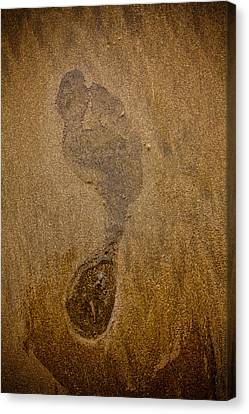 Jaco Canvas Print - Footprint In The Sand by Anthony Doudt