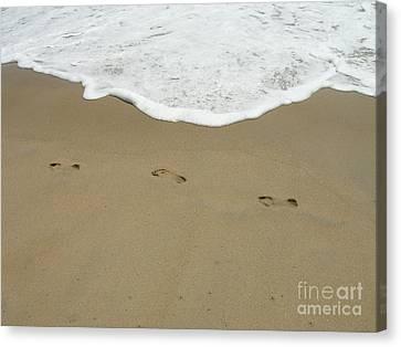 Canvas Print featuring the photograph Footprints by Arlene Carmel