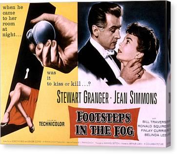 Footsteps In The Fog, Stewart Granger Canvas Print by Everett