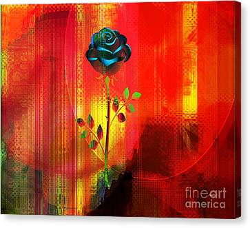 Love Making Canvas Print - For My Love by Fania Simon