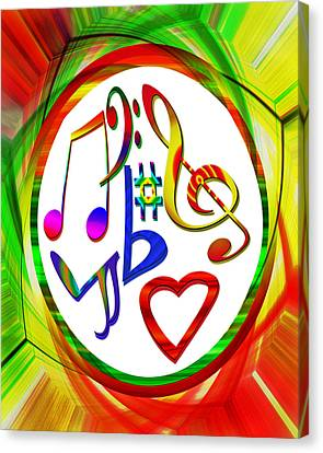 For The Love Of Music Canvas Print by Susan Leggett