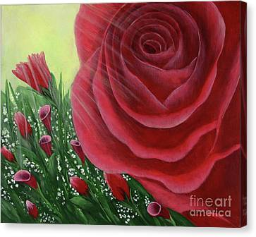 For The Love Of Roses Canvas Print by Kristi Roberts