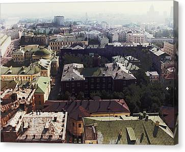 forbidden view over Moscow Canvas Print by Nafets Nuarb