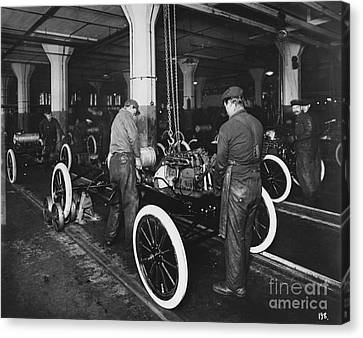 Ford Assembly Line Canvas Print by Omikron