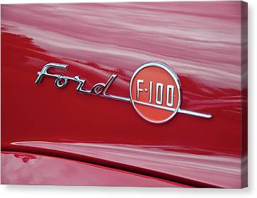 Ford F-100 Nameplate Canvas Print by Guy Whiteley