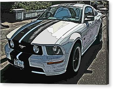 Ford Mustang Gt No. 2 Canvas Print by Samuel Sheats