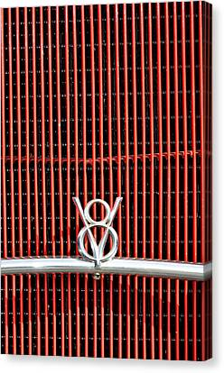 Ford V8 Ornament On Grill Canvas Print