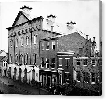 Canvas Print featuring the photograph Fords Theater - After Lincolns Assasination - 1865 by International  Images
