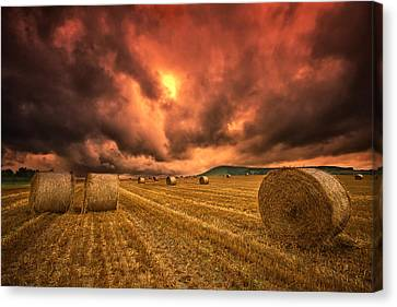 Foreboding Sky Canvas Print by Mark Leader