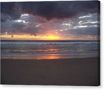 Canvas Print featuring the photograph Foreboding Sky by Sheila Silverstein