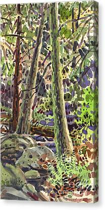 Forest Green Canvas Print by Donald Maier
