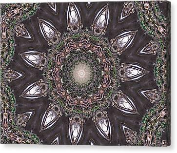 Forest Mandala 1 Canvas Print by Rhonda Barrett