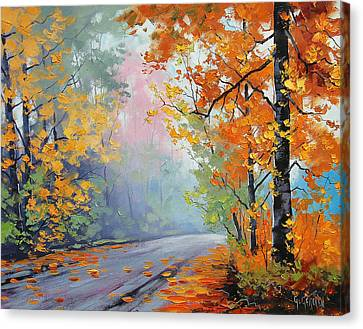 Forest Road Canvas Print by Graham Gercken