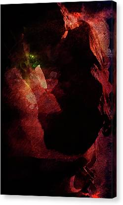 Canvas Print featuring the digital art Forever Yours by Andrea Barbieri