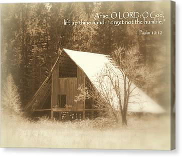 Forget Not Humble Psalm Canvas Print